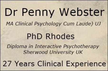 Clinical Psychologist Dr Penny Webster - Benoni