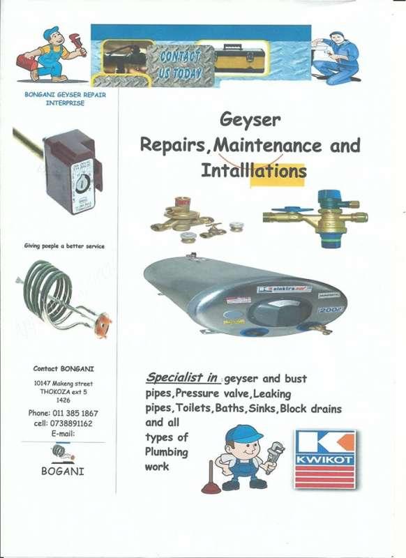Bogani Plumbing Service | Alberton